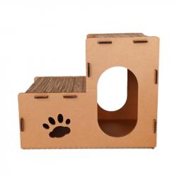 Casa con Rascadores de Cartón